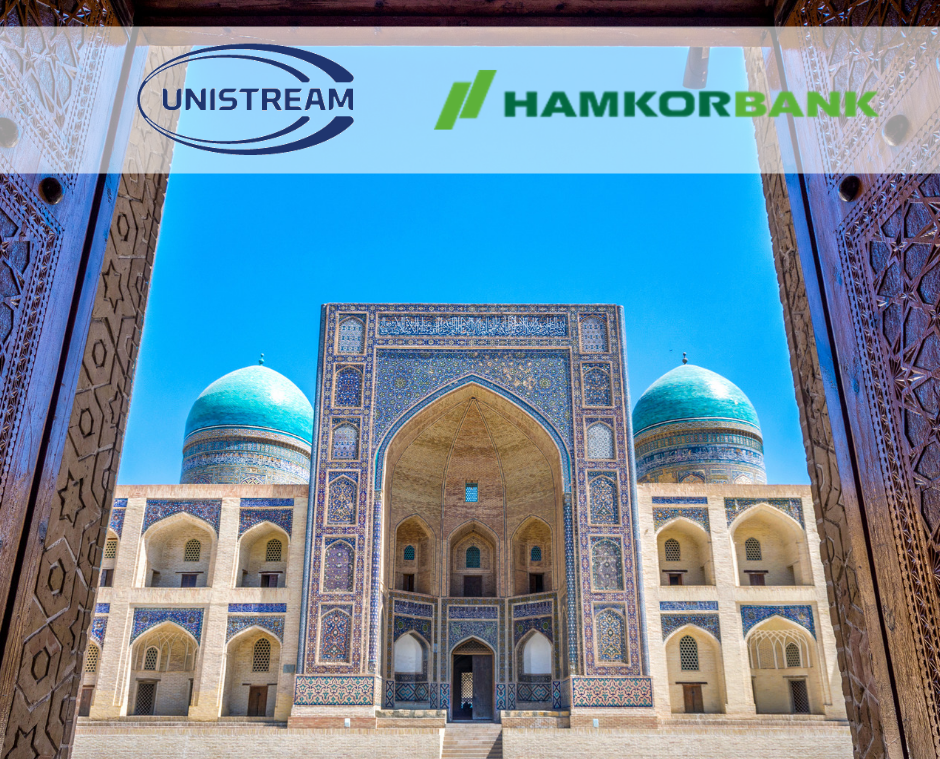 Unistream Money Transfers in Uzbekistani Soms are now available at Hamkorbank